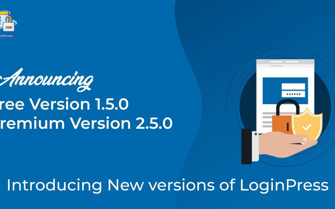 Introducing Versions of LoginPress